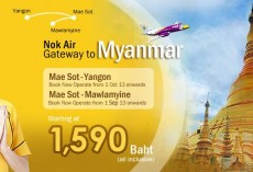 Nok Air makes Mawlamyine its first Myanmar point